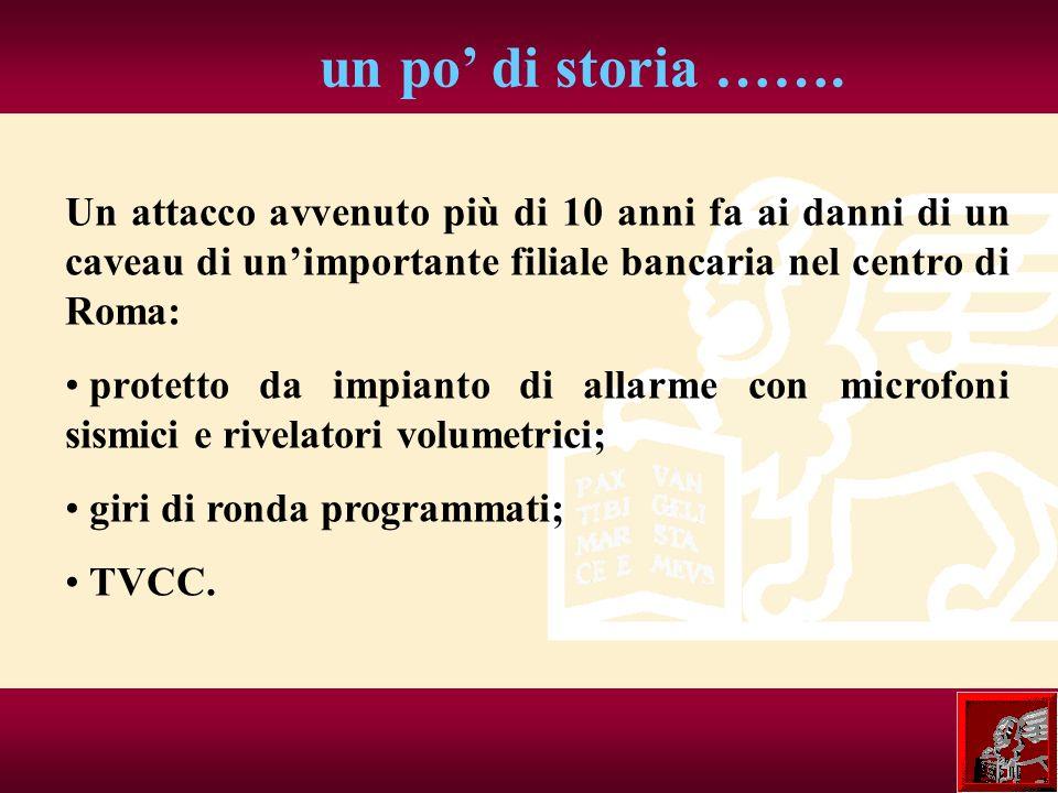 un po' di storia ……. Un attacco avvenuto più di 10 anni fa ai danni di un caveau di un'importante filiale bancaria nel centro di Roma: