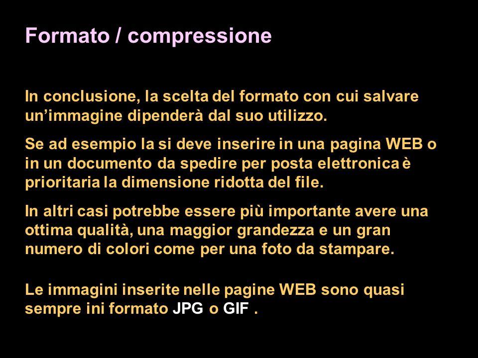 Formato / compressione