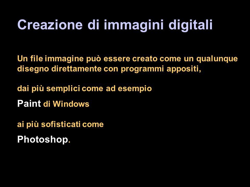 Creazione di immagini digitali