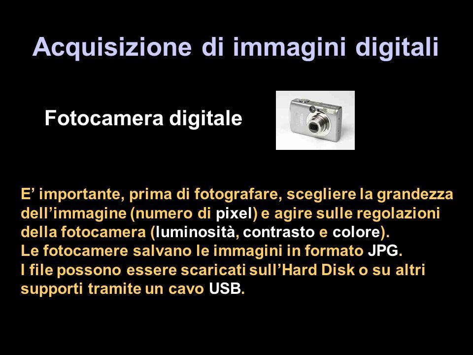 Acquisizione di immagini digitali