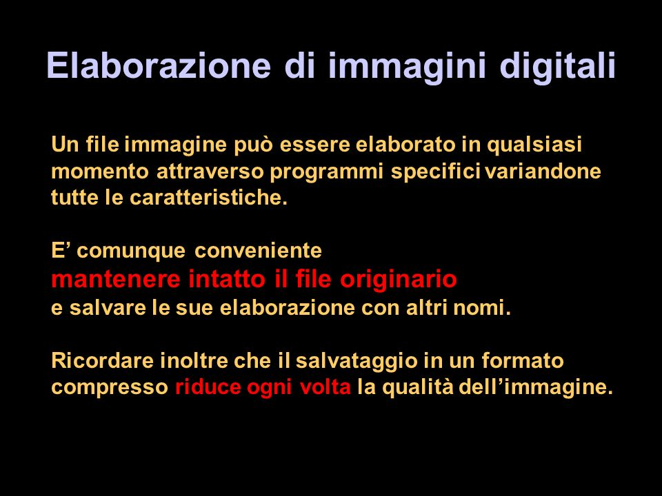 Elaborazione di immagini digitali