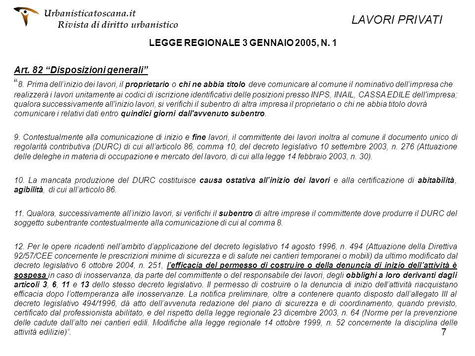 LEGGE REGIONALE 3 GENNAIO 2005, N. 1