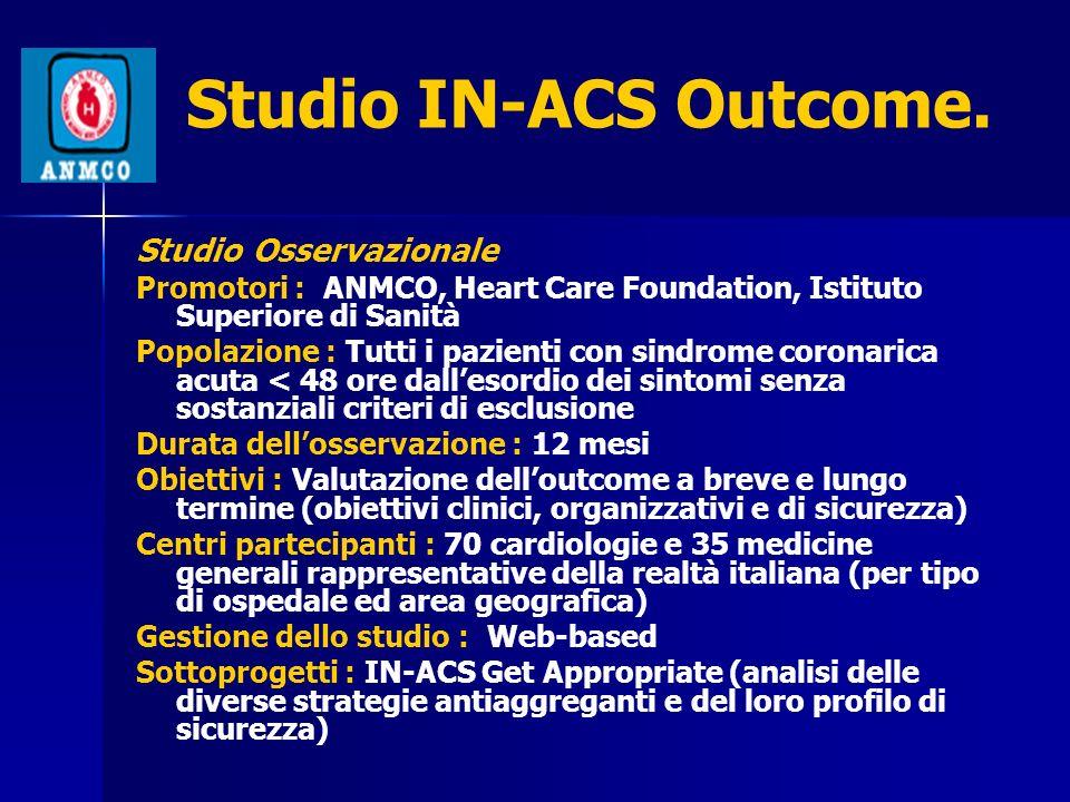Studio IN-ACS Outcome. Studio Osservazionale