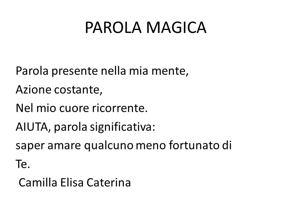 PAROLA MAGICA