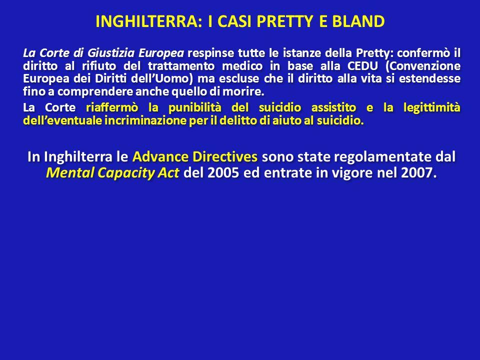 INGHILTERRA: I CASI PRETTY E BLAND