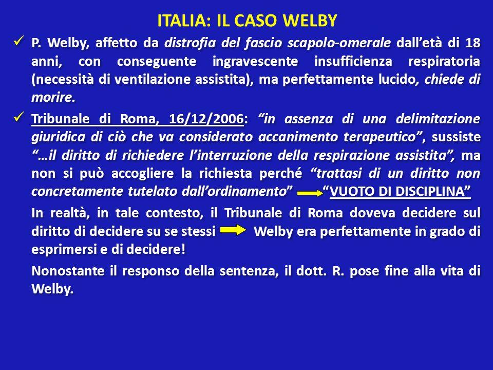 ITALIA: IL CASO WELBY