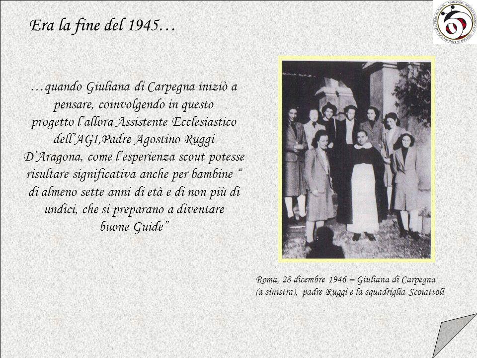 …quando Giuliana di Carpegna iniziò a pensare, coinvolgendo in questo