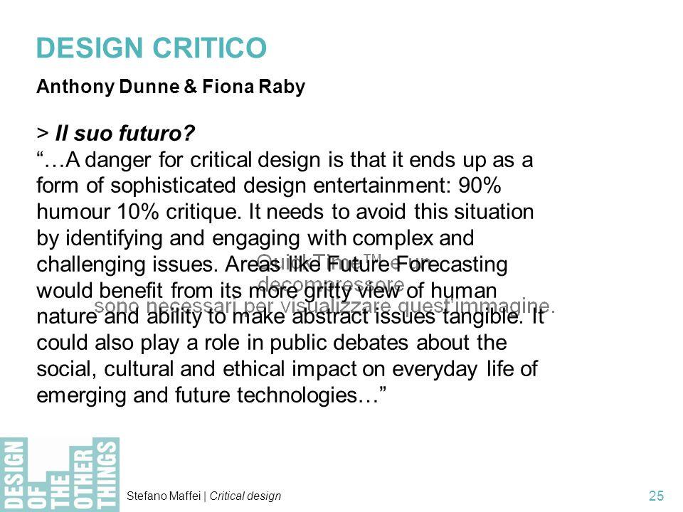DESIGN CRITICO > Il suo futuro