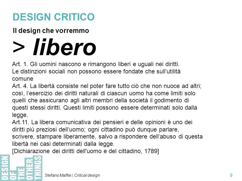 > libero DESIGN CRITICO Il design che vorremmo