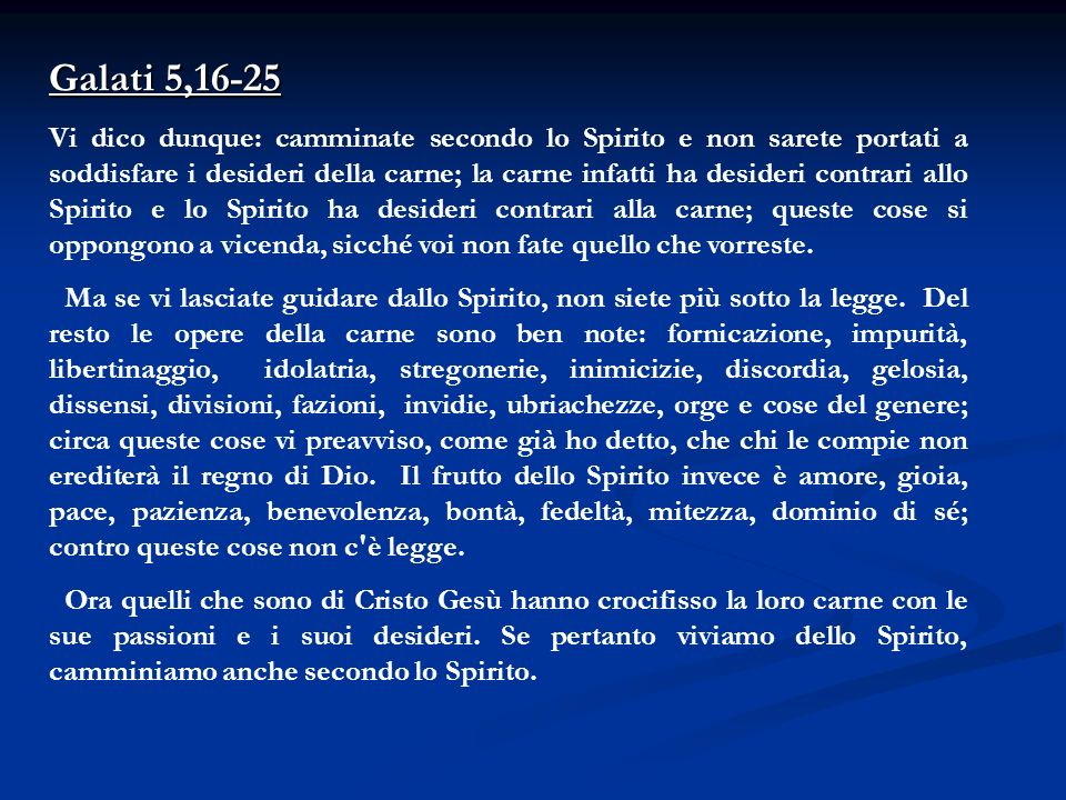 Galati 5,16-25