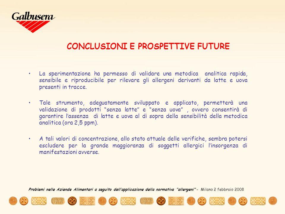 CONCLUSIONI E PROSPETTIVE FUTURE
