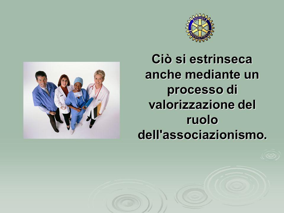 Ciò si estrinseca anche mediante un processo di valorizzazione del ruolo dell associazionismo.