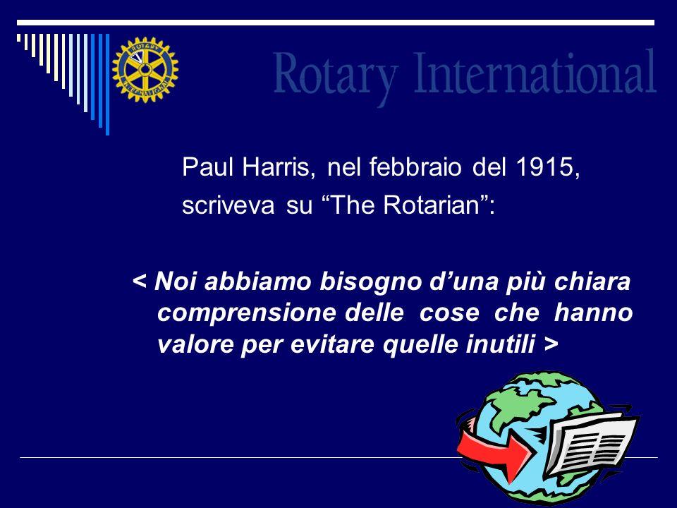 Paul Harris, nel febbraio del 1915,