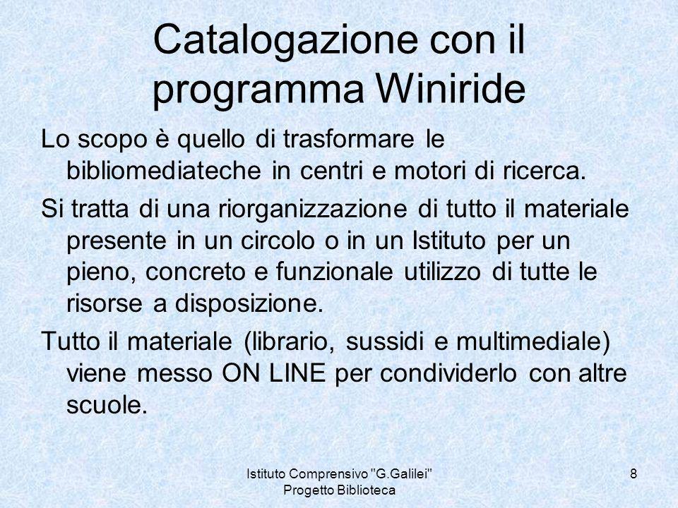 Catalogazione con il programma Winiride