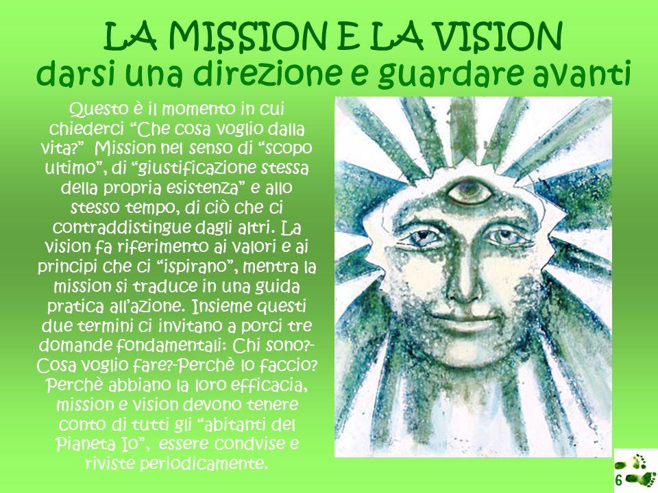 LA MISSION E LA VISION darsi una direzione e guardare avanti