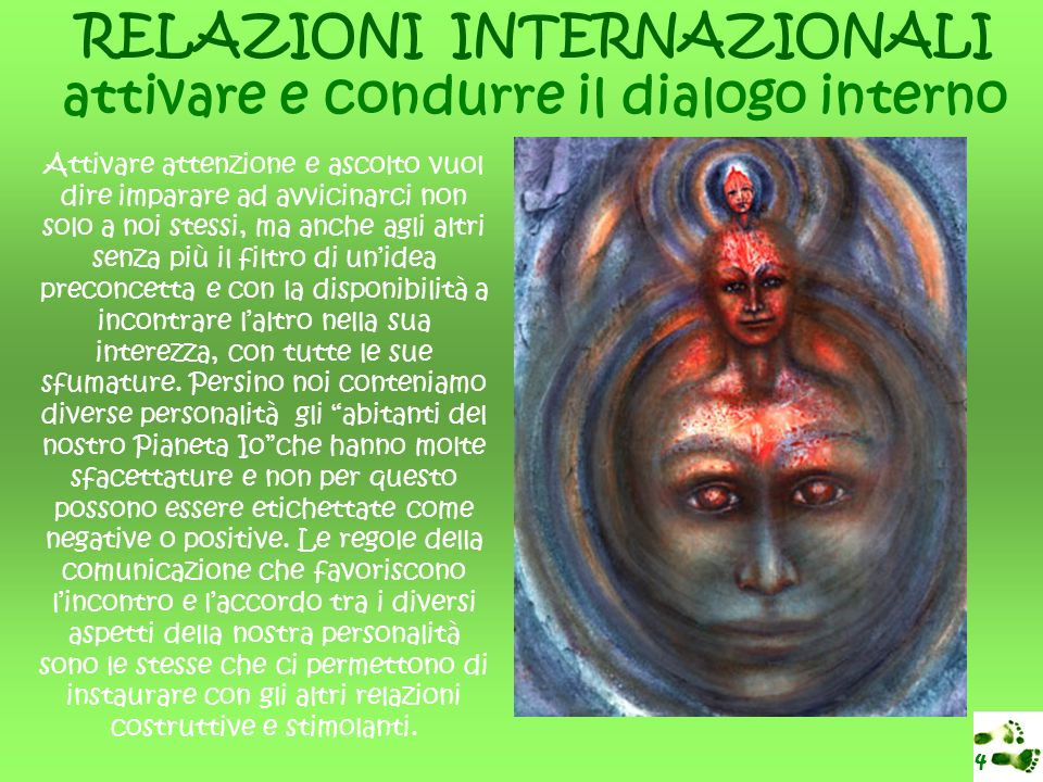 RELAZIONI INTERNAZIONALI attivare e condurre il dialogo interno
