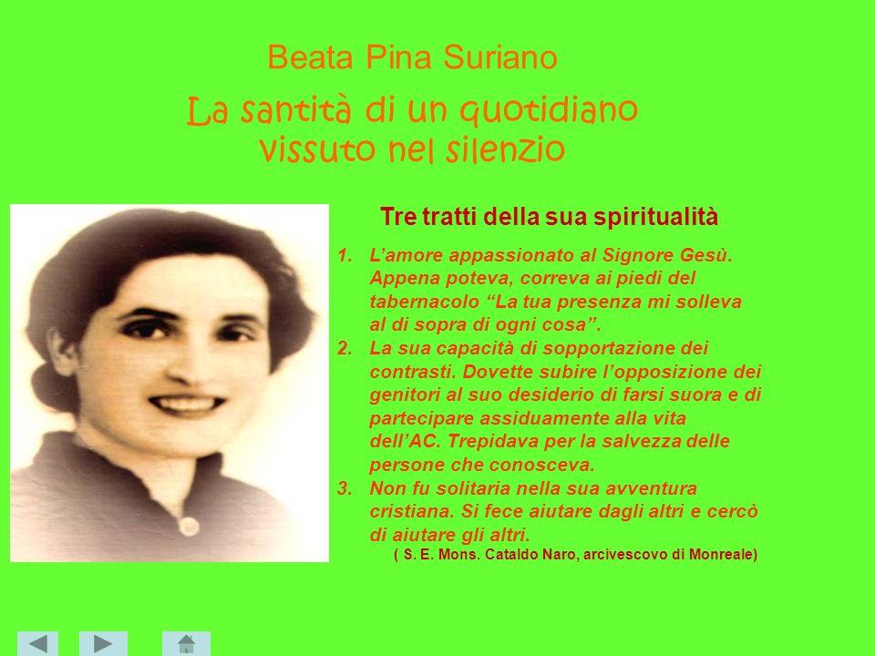 Beata Pina Suriano La santità di un quotidiano vissuto nel silenzio