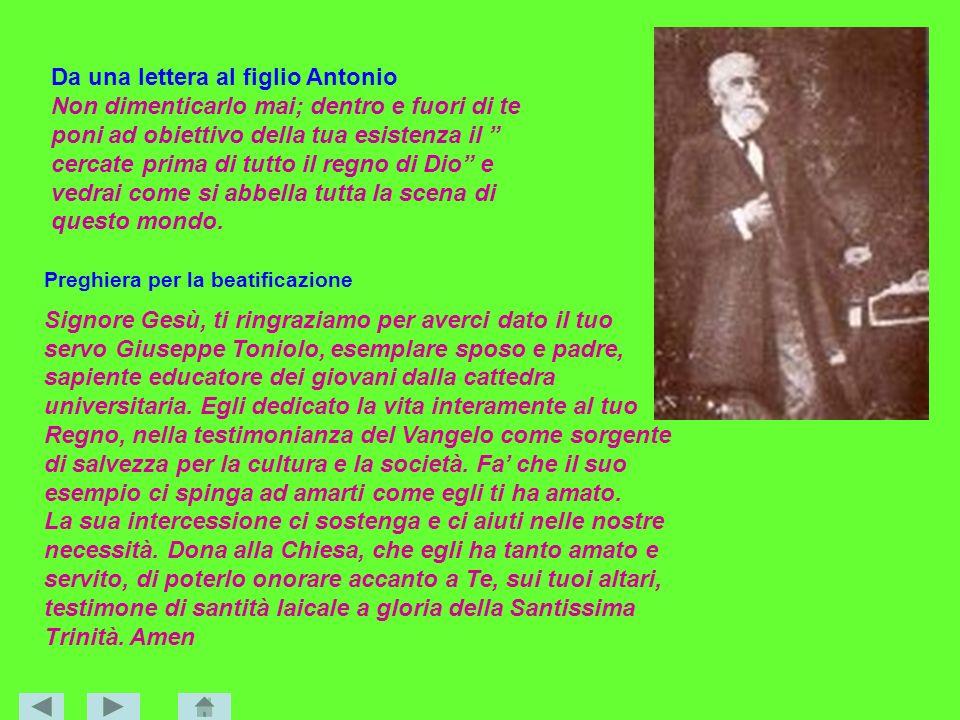 Da una lettera al figlio Antonio