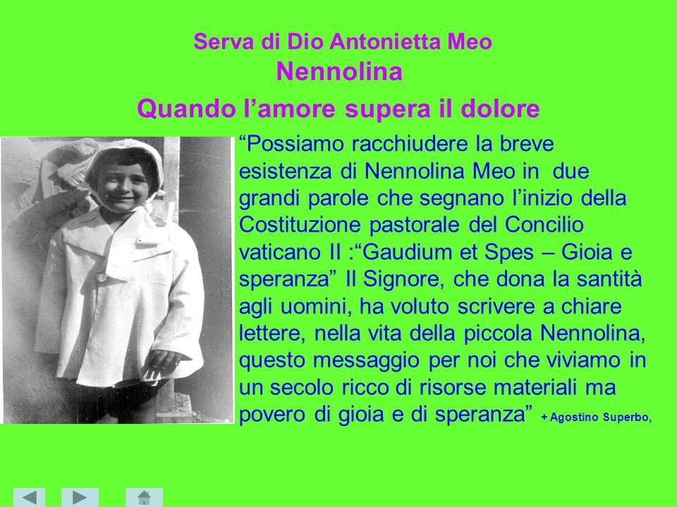 Serva di Dio Antonietta Meo Nennolina