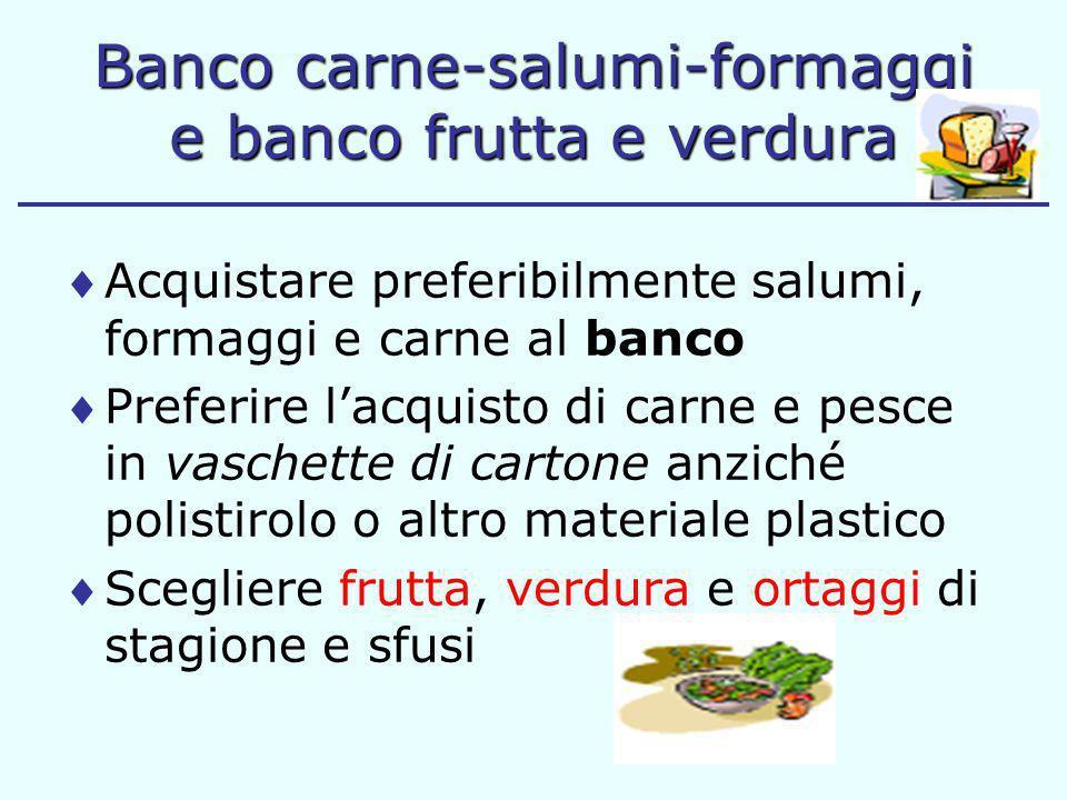 Banco carne-salumi-formaggi e banco frutta e verdura
