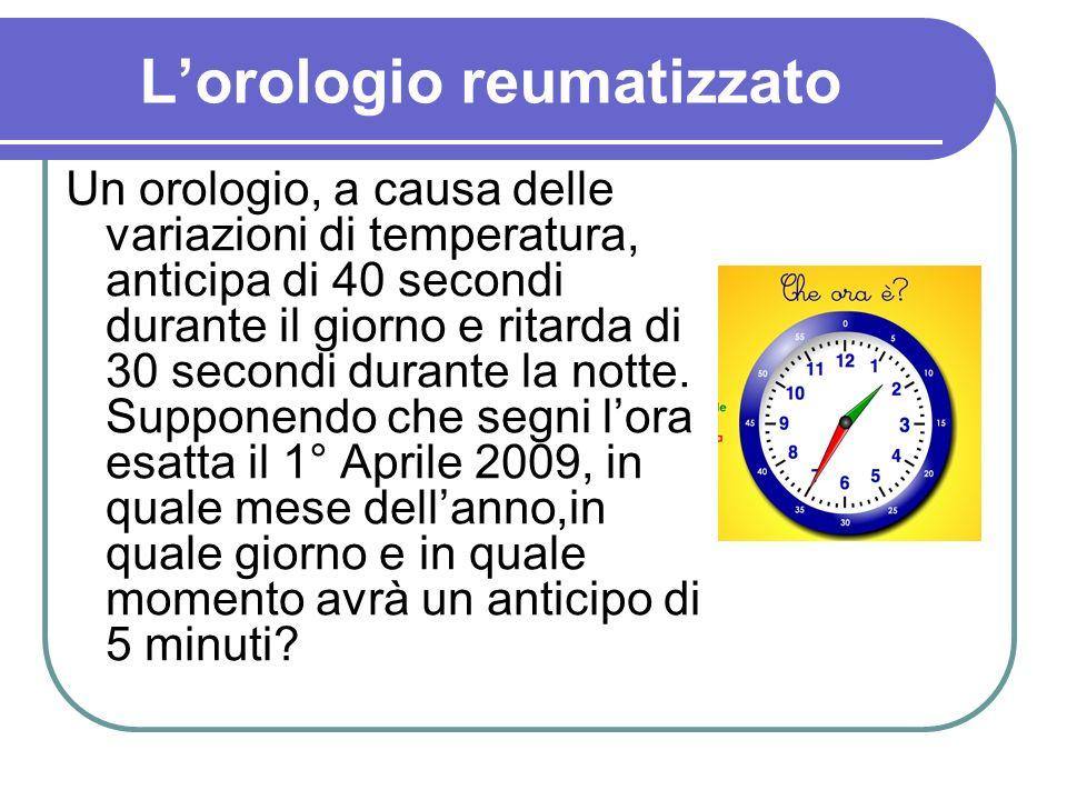 L'orologio reumatizzato
