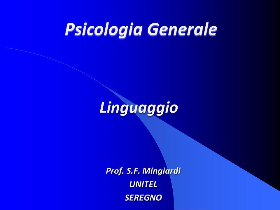 Prof. S.F. Mingiardi UNITEL SEREGNO