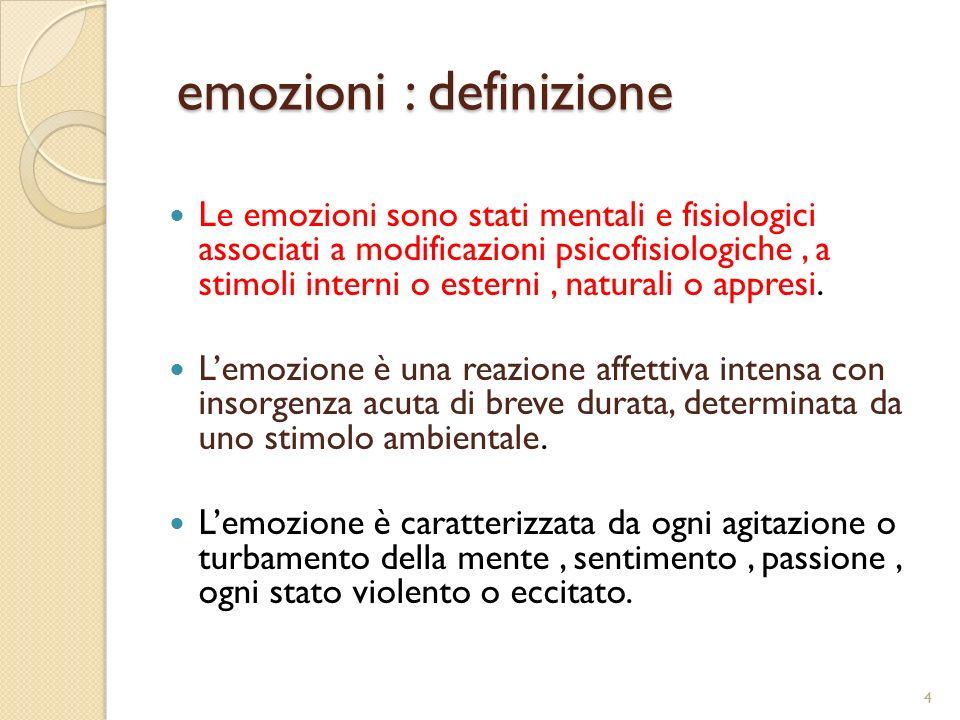 emozioni : definizione