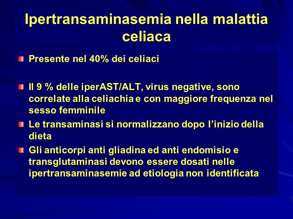 Ipertransaminasemia nella malattia celiaca