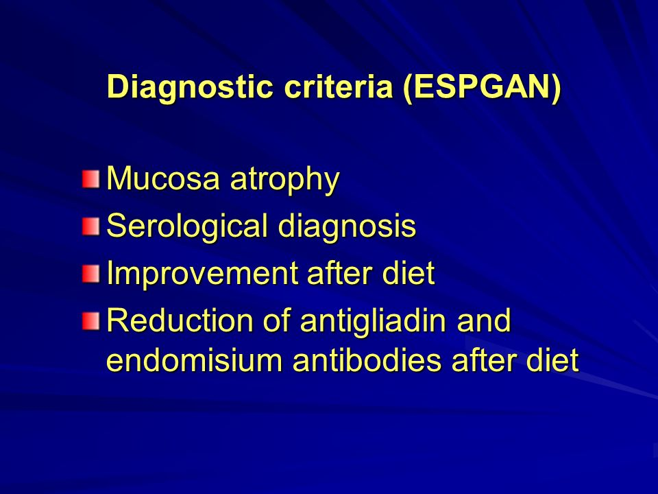 Diagnostic criteria (ESPGAN)
