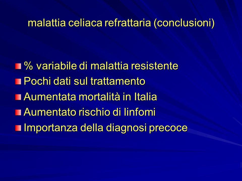 malattia celiaca refrattaria (conclusioni)
