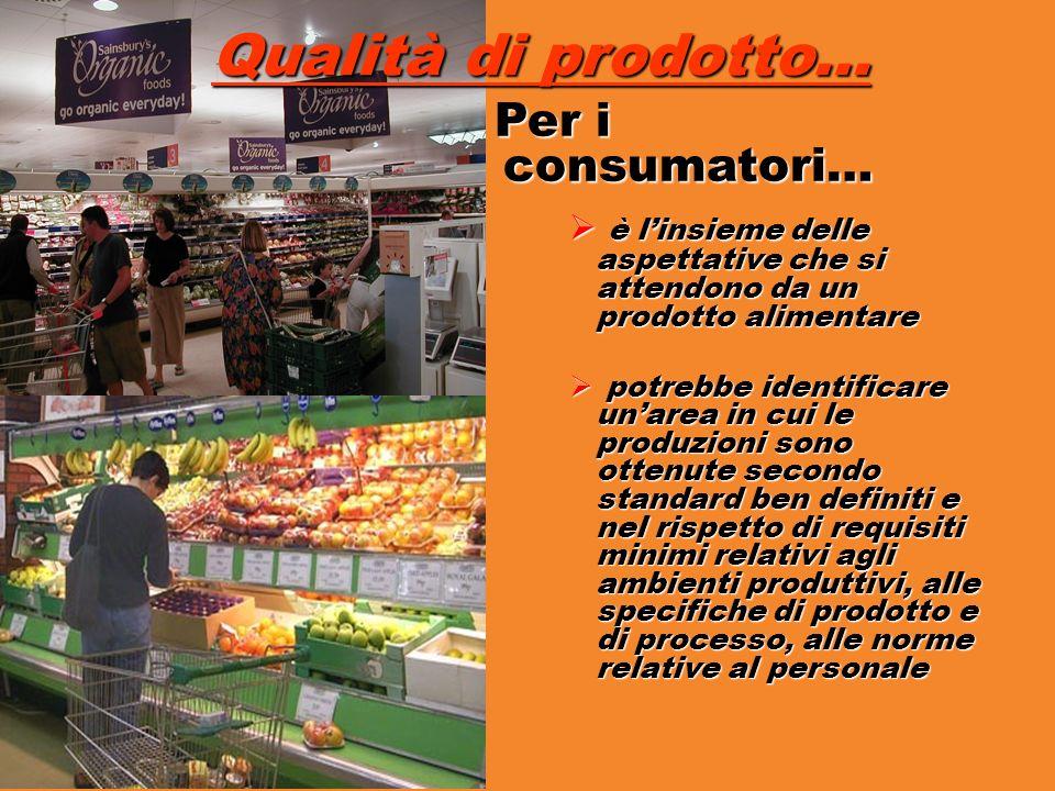 Qualità di prodotto… Per i consumatori…
