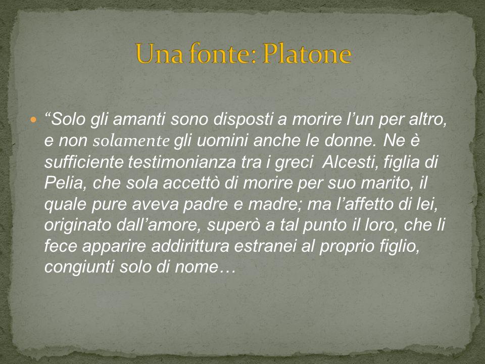 Una fonte: Platone