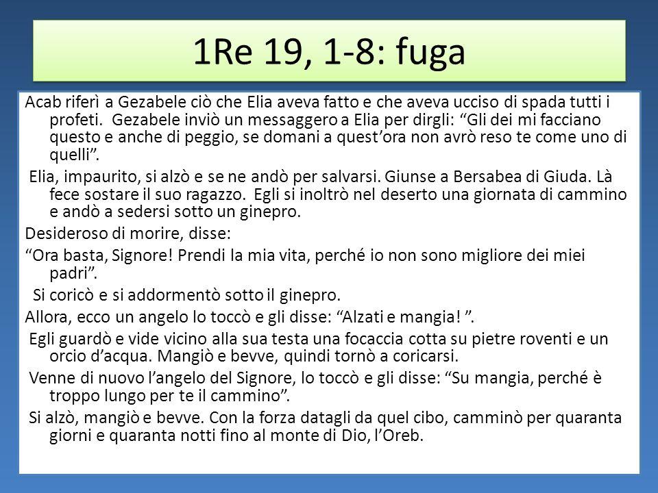 1Re 19, 1-8: fuga