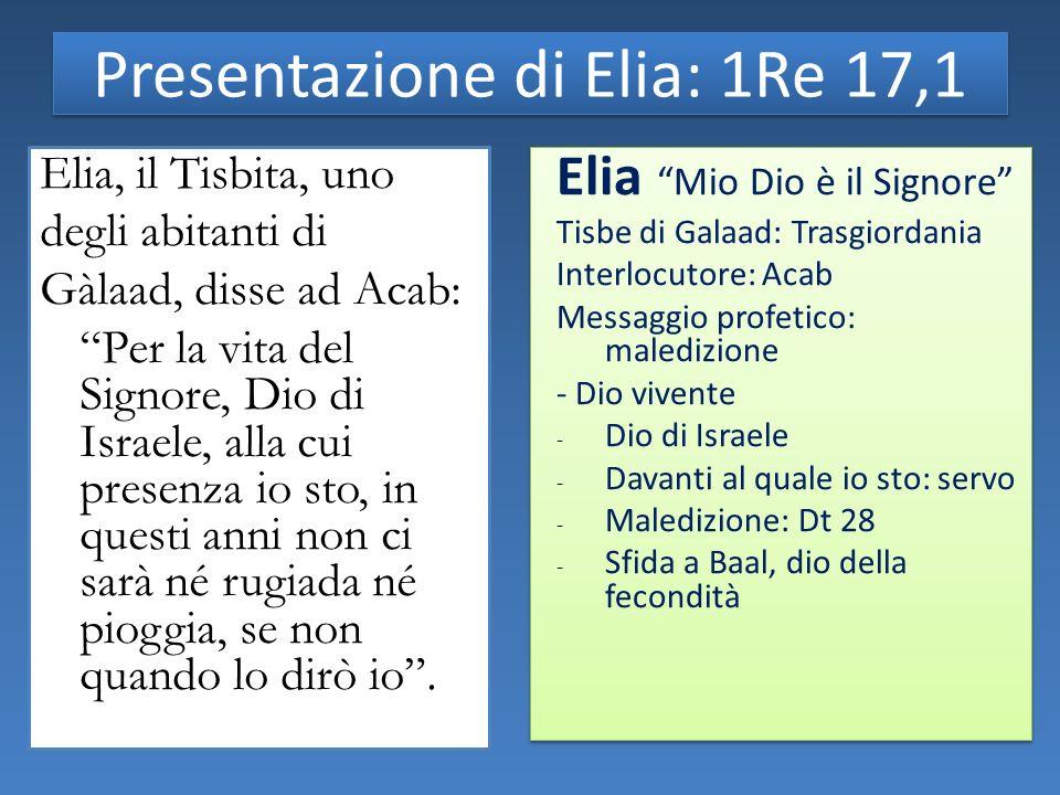 Presentazione di Elia: 1Re 17,1