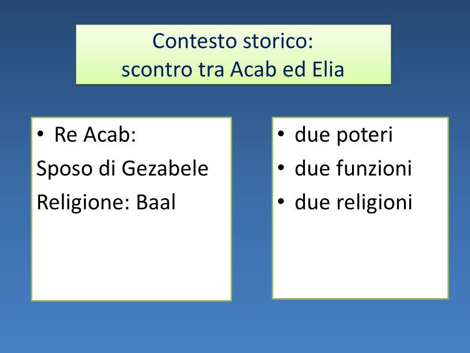 Contesto storico: scontro tra Acab ed Elia