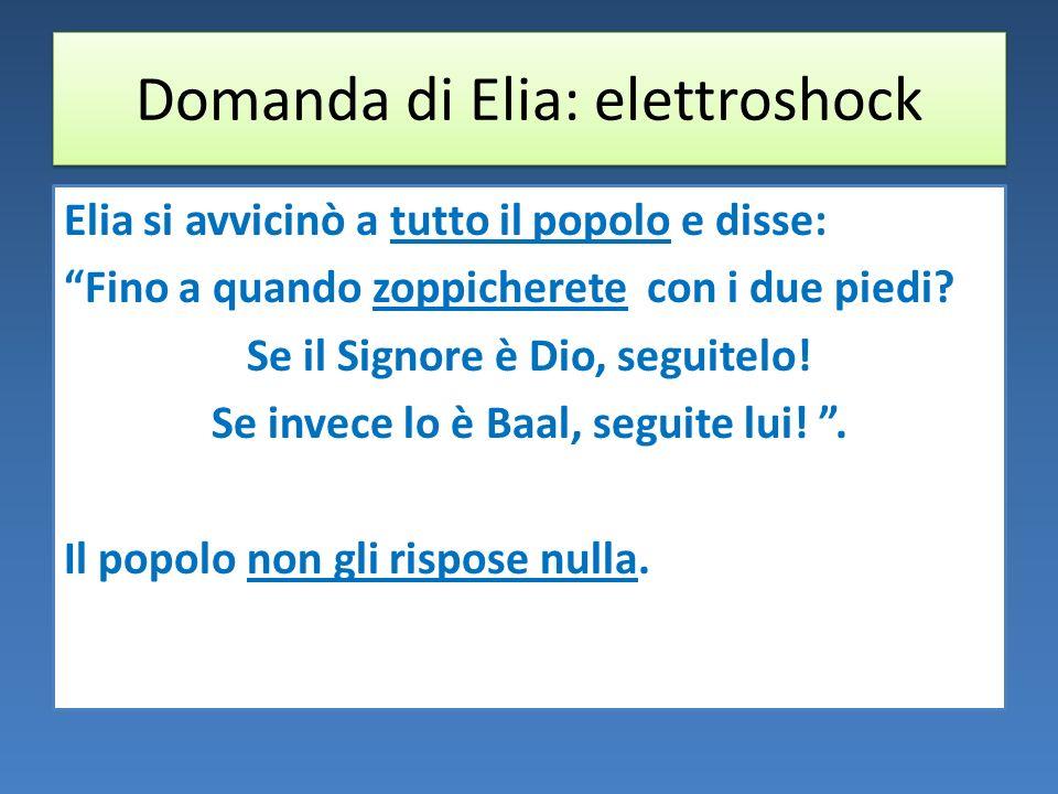 Domanda di Elia: elettroshock