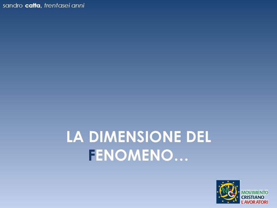 LA DIMENSIONE DEL FENOMENO…