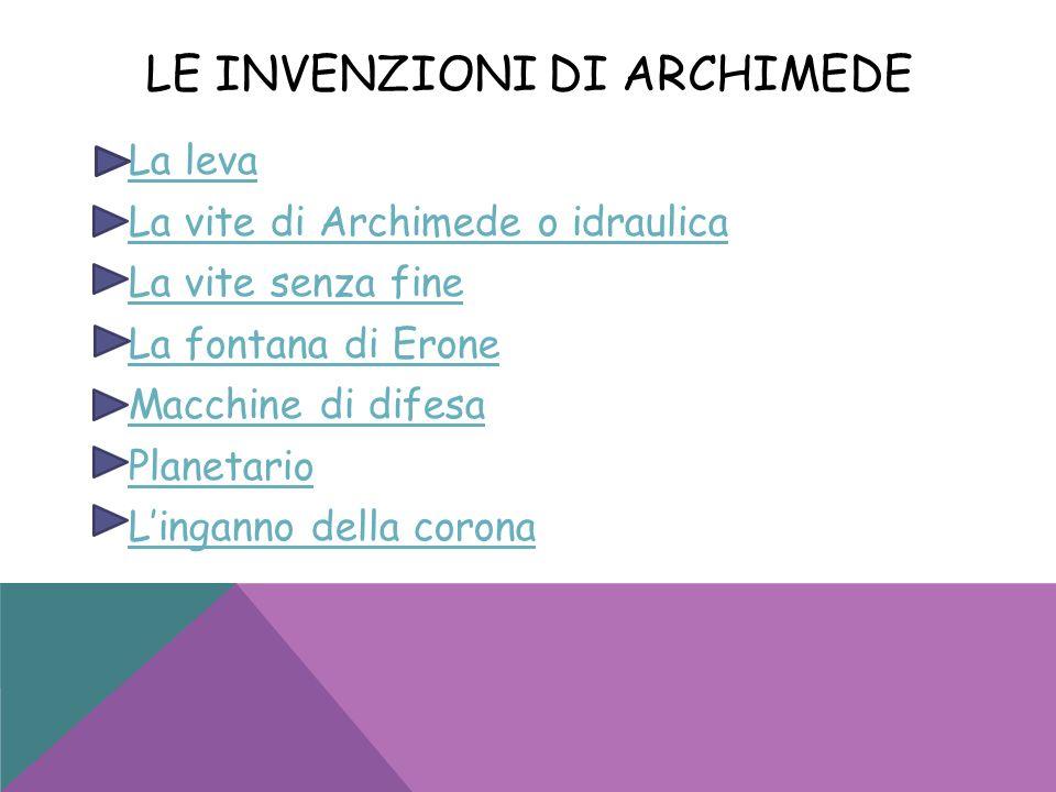 Le invenzioni di Archimede