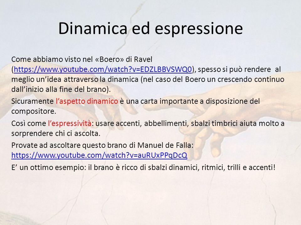Dinamica ed espressione