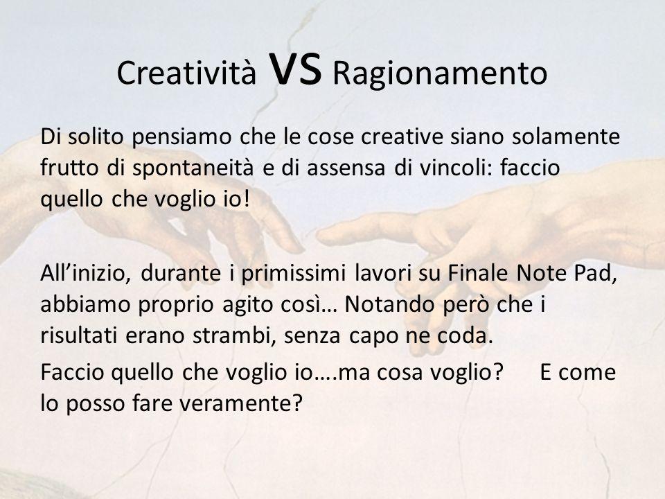 Creatività vs Ragionamento