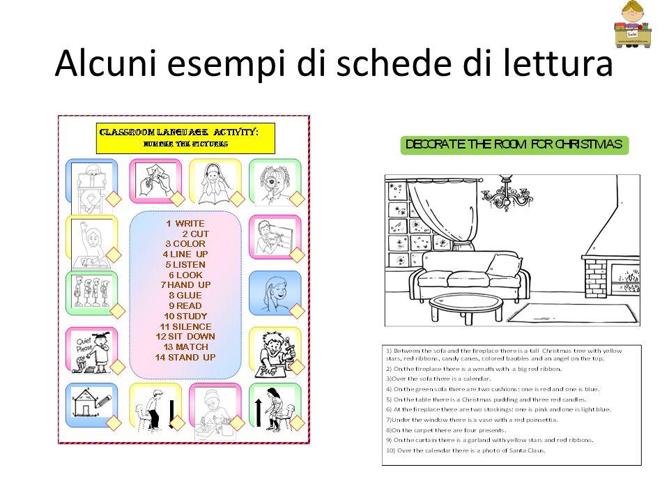 Alcuni esempi di schede di lettura