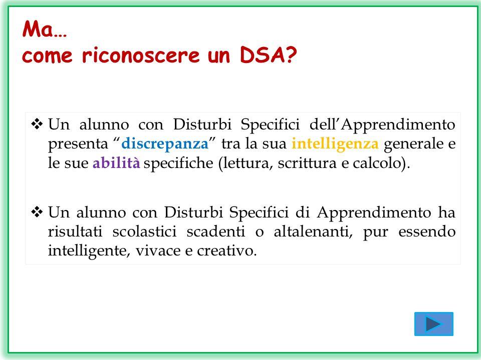 come riconoscere un DSA