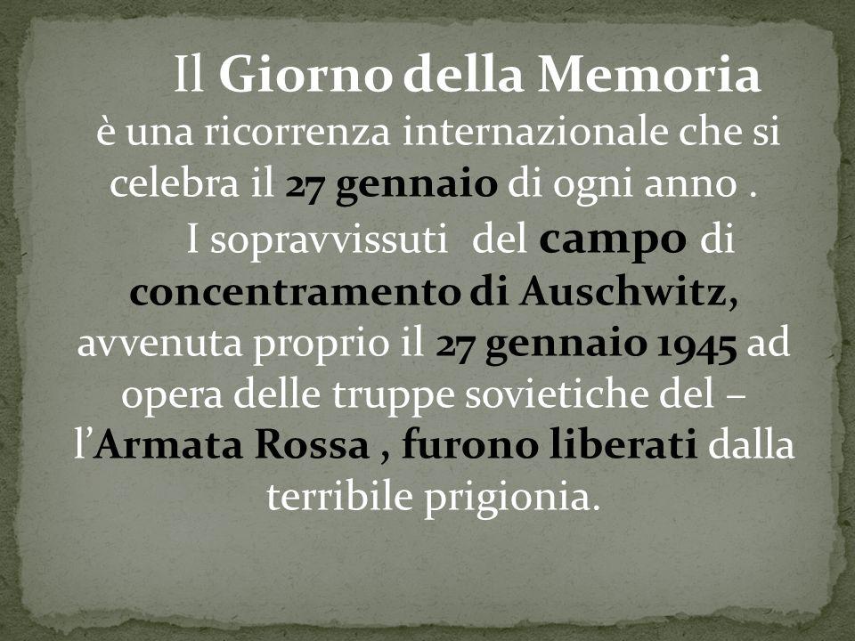 I sopravvissuti del campo di concentramento di Auschwitz,