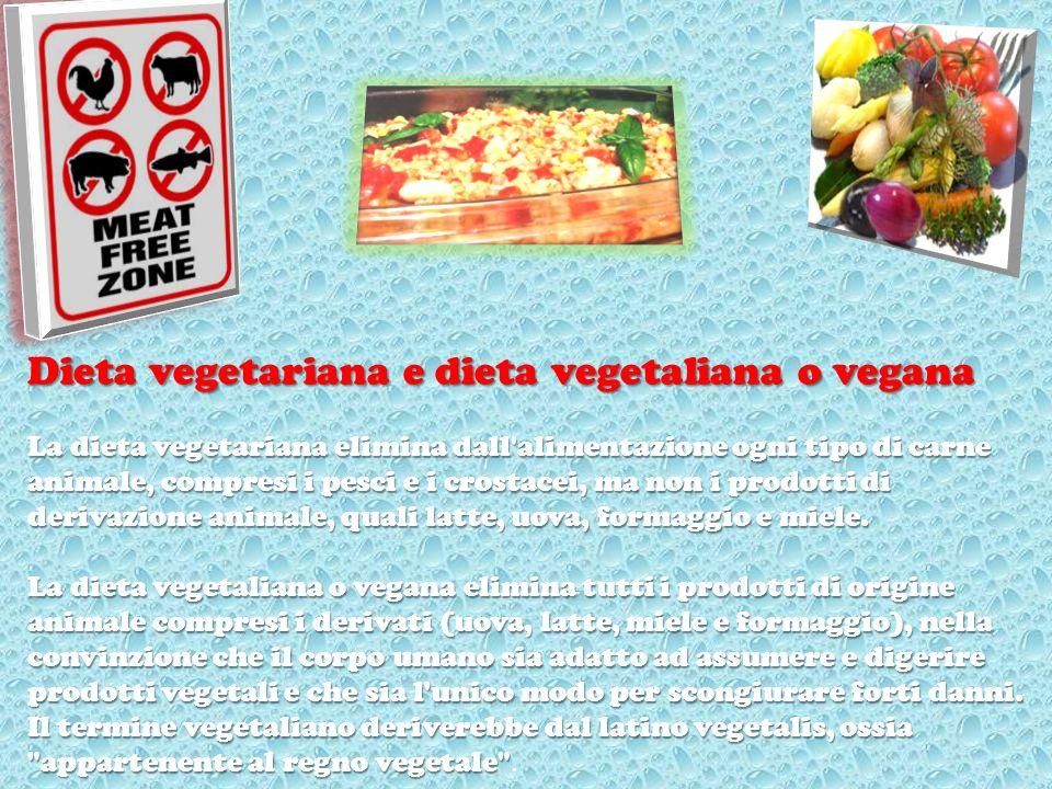 Dieta vegetariana e dieta vegetaliana o vegana