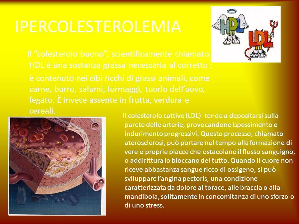 IPERCOLESTEROLEMIA Il colesterolo buono , scientificamente chiamato HDL è una sostanza grassa necessaria al corretto ;