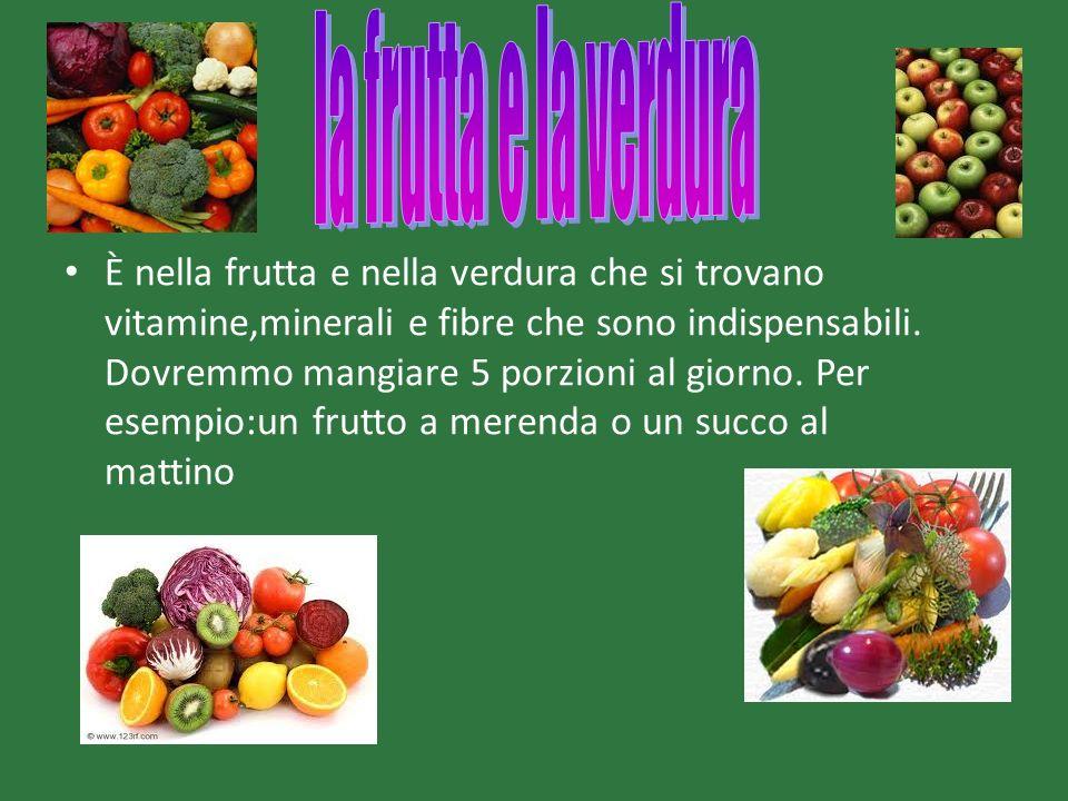 la frutta e la verdura