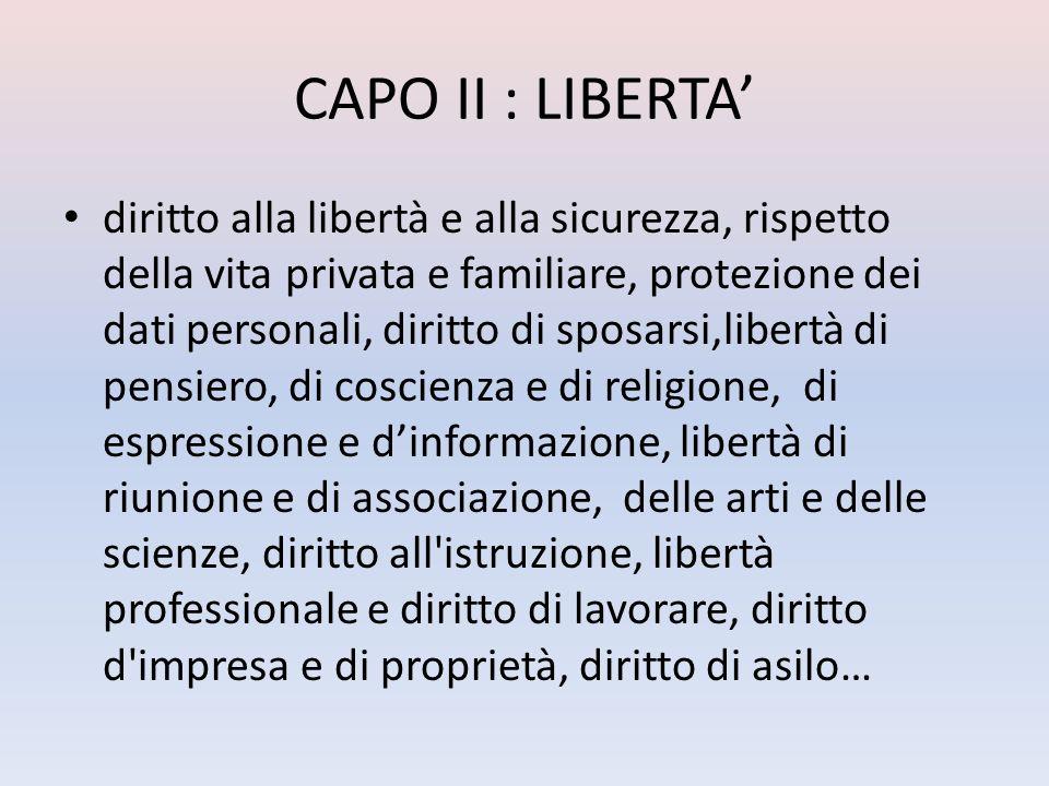 CAPO II : LIBERTA'