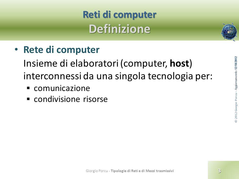 Reti di computer Definizione