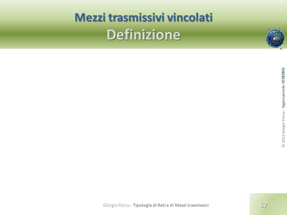Mezzi trasmissivi vincolati Definizione