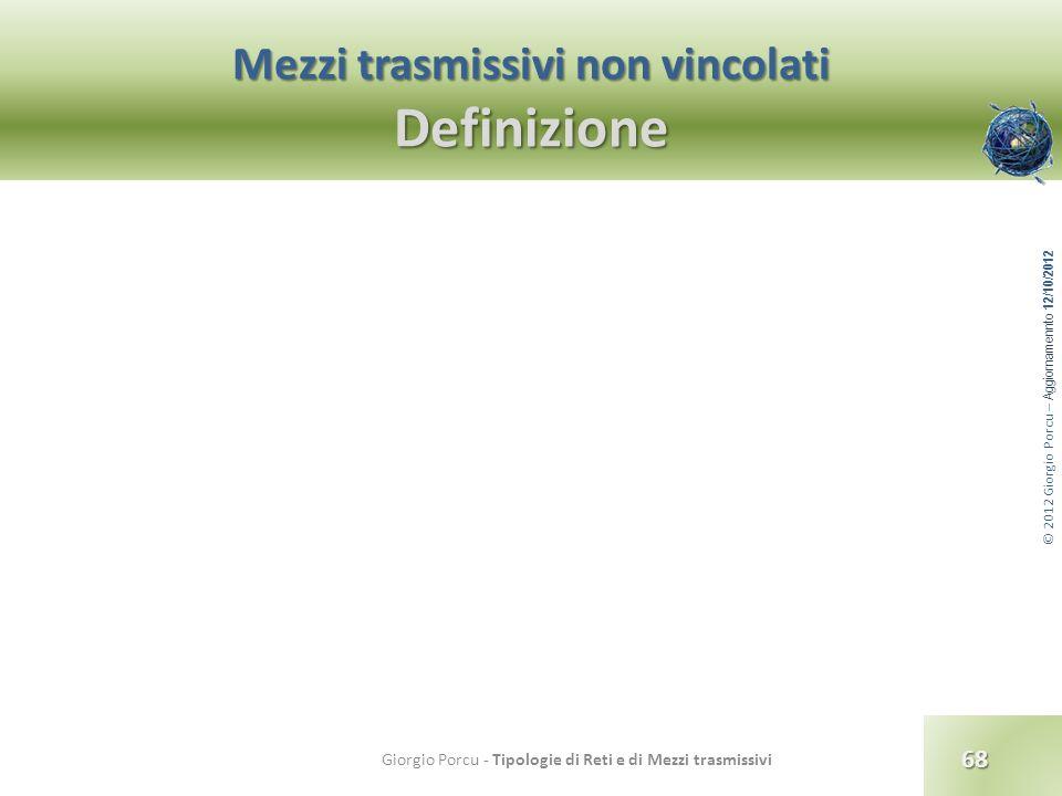 Mezzi trasmissivi non vincolati Definizione